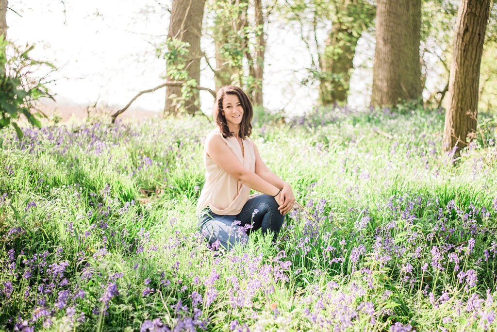laura jane photography, essex canine photographer, kent canine photographer, suffolk canine photographer, uk canine photographer, natural dog photographer, animal photographer, bluebells, bluebell woods, bluebell photos, girl and her dog in the bluebells